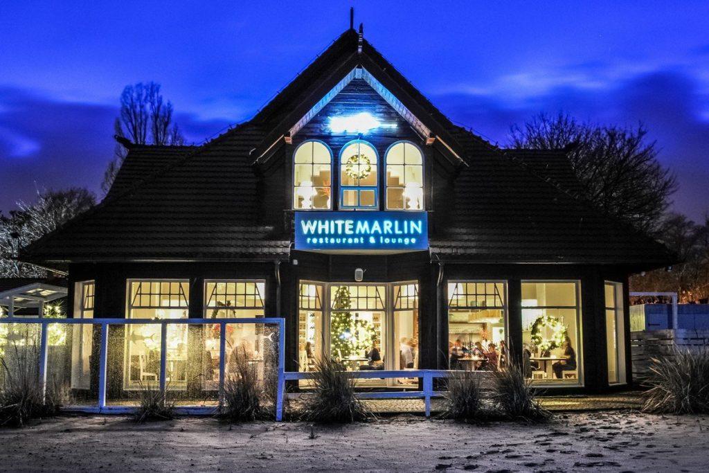 White Marlin Sopot plaża restauracja
