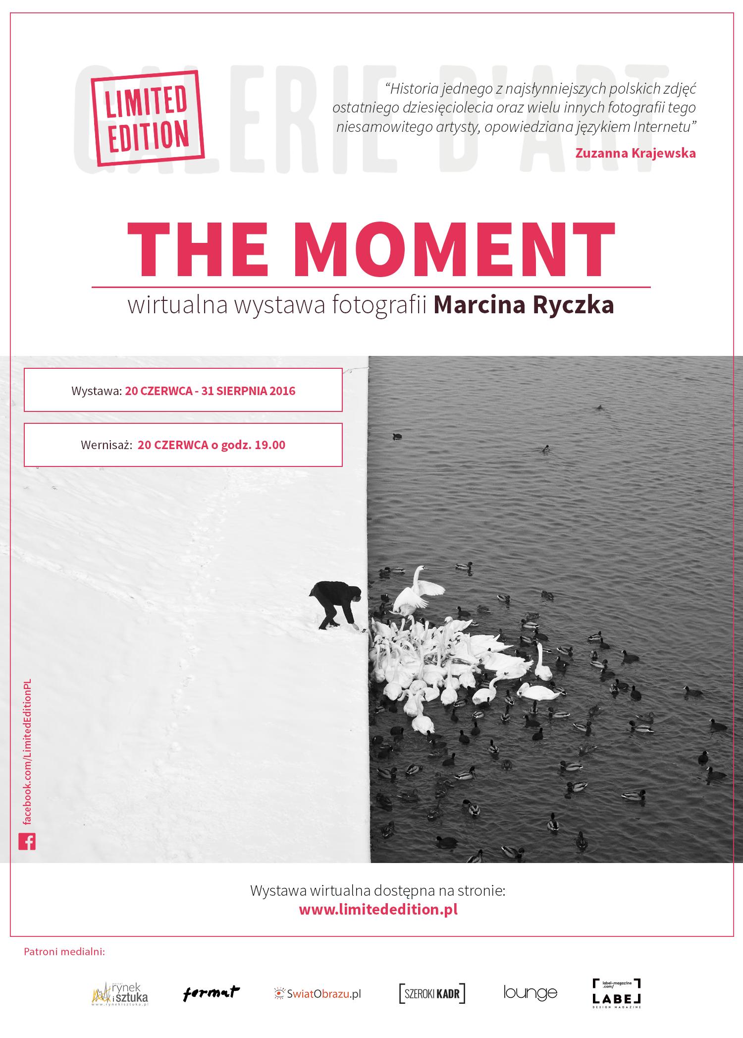 Plakat WEB The Moments - wystawa Marcina Ryczka w Limited Edition