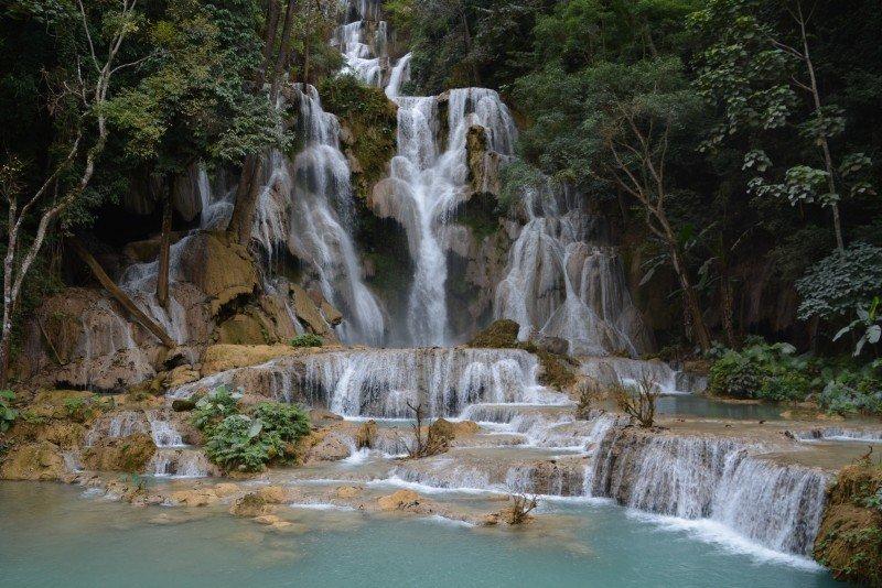 Wodospady w Laosie