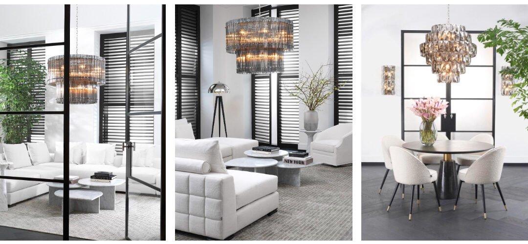 Olśniewające i pięknie zaaranżowane wnętrza w Clue Studio, salonie flagowym Eichholtz